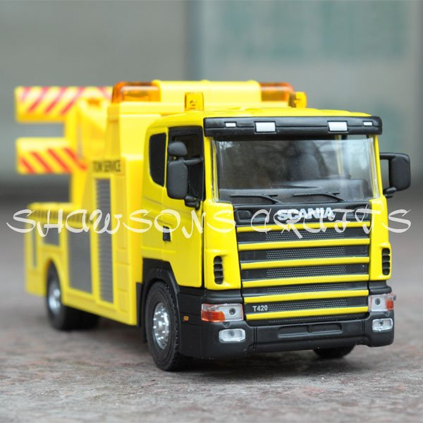 DIE CAST METAL 1/43 SCANIA TOW TRUCK WRECKER MODEL TOY REPLICA(China (Mainland))