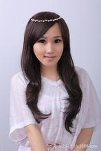 Ломбер парик волосы площадку парик корейской поп-летние длинные вьющиеся волосы слегка завитые из белые воротнички студент должен есть иу завод прямой
