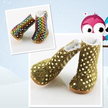 Lentejuelas Nieve Botas Zapatos Americanos Muñeca Mezclar Estilos Fit 18 ''American Girl Doll Para Regalo de Navidad de la Muchacha(China (Mainland))