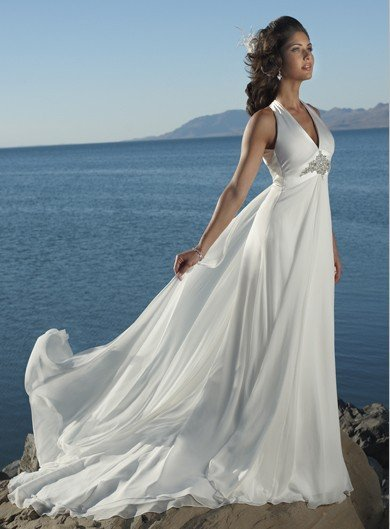 wholesale Informal white wedding dresses 2012 free shipping new style