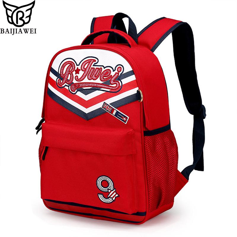 BAIJIAWEI Brand Children School Bags For Girls Boys Kids Backpack In Primary School Backpacks Waterproof Mochila Infantil Zip(China (Mainland))