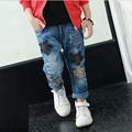 Hurave Boys Jeans Children s clothing Spring 2017 New Denim Jeans Partchwork FIve Stars Hot Selling
