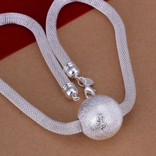 silver plated vogue jewelry Necklace pendants Chains, 925 jewelry silver plated necklace Large Ball Web Necklace rxus ujfz