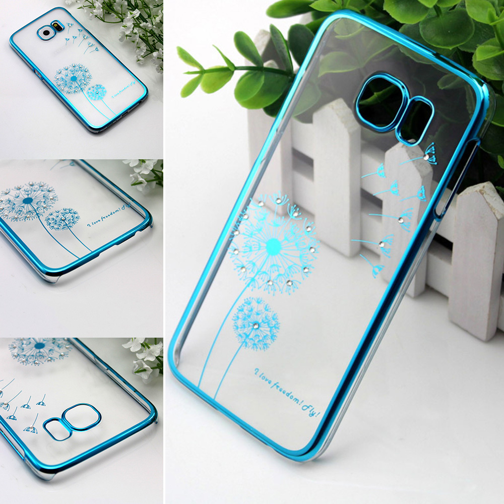 1Luxury Crystal Rhinestone Case Samsung S6/Note 3/Note 4 Diamond Gold Slim Bling Electroplating Drill Phone case - Xinghai store