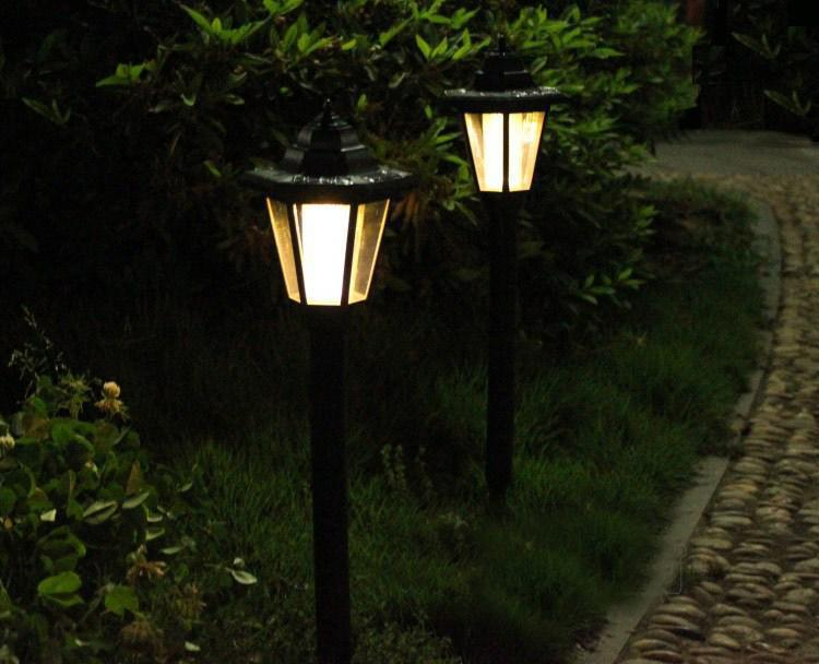 outdoor solar power lawn lamps led spot light garden path landscape. Black Bedroom Furniture Sets. Home Design Ideas