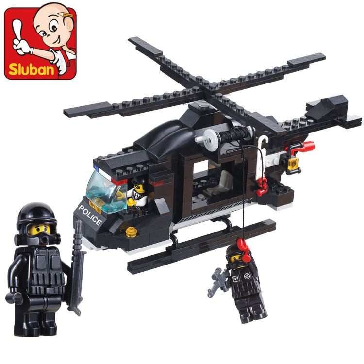 Arpa Lego Compatible Block Riot Swat 1800 Multi-purpose Helicopter with Minifigure Children Assembled Toys(China (Mainland))