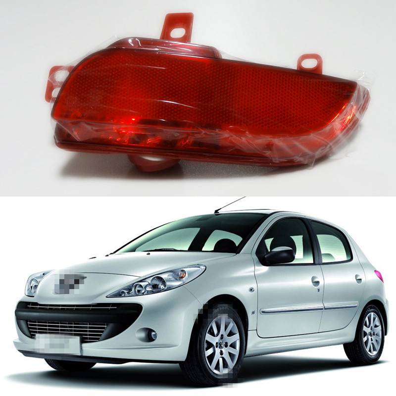 1 piece rh car tail bumper fog lamp light for peugeot 206 plus 207 in external lights from. Black Bedroom Furniture Sets. Home Design Ideas