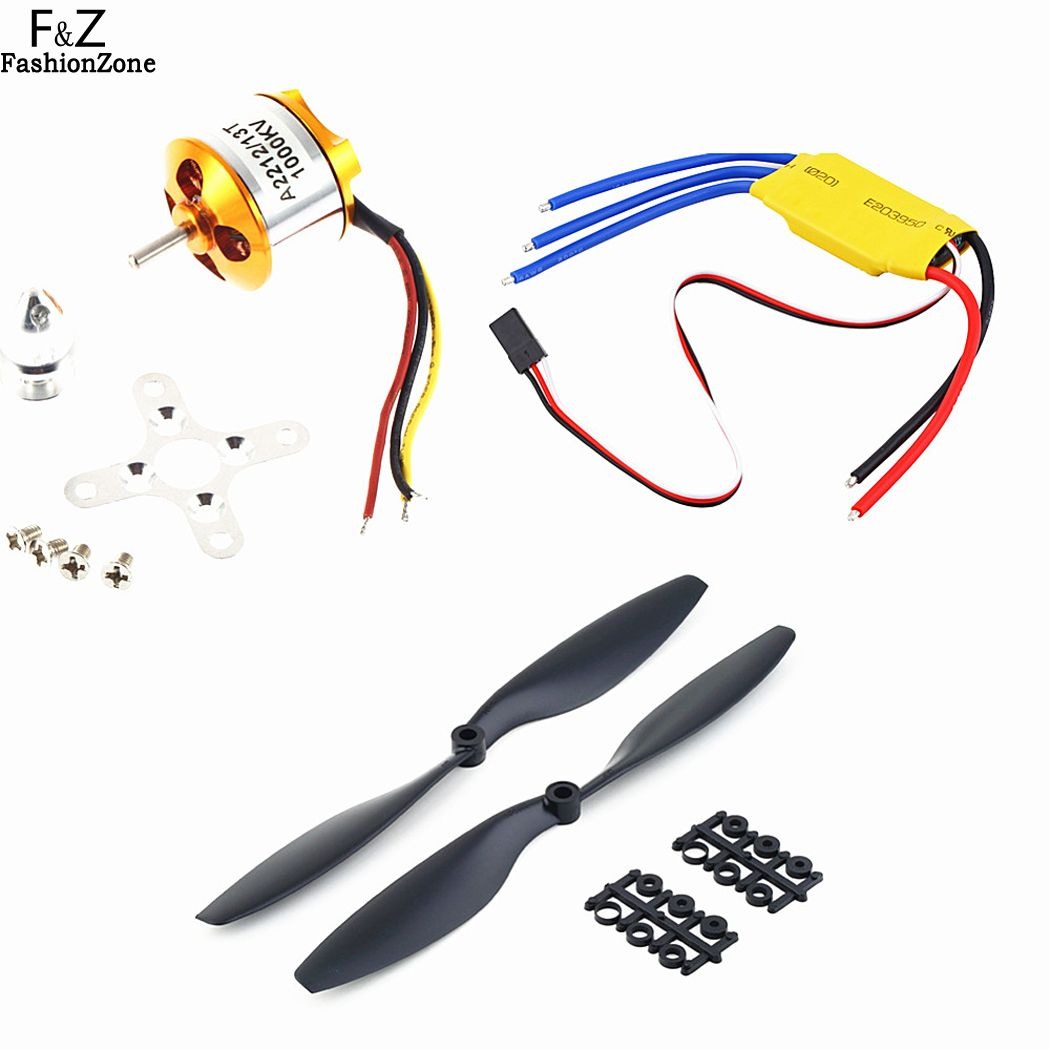 New A2212 1000KV Brushless Motor w/30A Brushless ESC+1045 Propeller DJI F450 550 66<br><br>Aliexpress