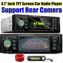4.1'' inch big TFT screen Car radio player MP5 4.1 inch TFT screen Support Rear Camera 12V Car Audio video FM/USB/SD/MMC 1 Din (China (Mainland))