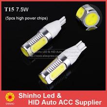 2pcs/pair 7.5W Plasma High Power T15 W16W 921 912 LED Bulbs For Car Backup Reverse Lights(China (Mainland))