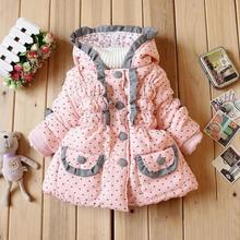 Children Kids Baby Jacket  Autumn And Winter Girl  Overcoat Baby Cartoon Coat Cotton-padded Clothes(China (Mainland))