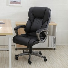 Executive Task Ergonomic Computer Desk Black PU Leather High Back Office Chair(China (Mainland))