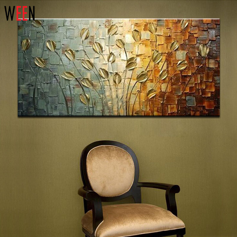100% Handmade Abstract Oil Painting Tableaux Sur Toile Modern Canvas Art Decorative Knife Flower Paintings for Wall Decor(China (Mainland))