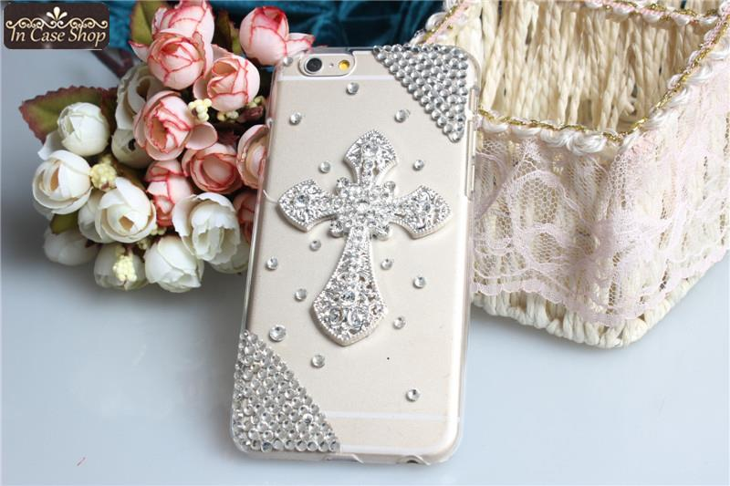 Bling Cross Original Capa Para Coque Cell Phone Cover Case For Apple Iphone 6 Luxury Strass Funda Celular Bumper F104201(China (Mainland))