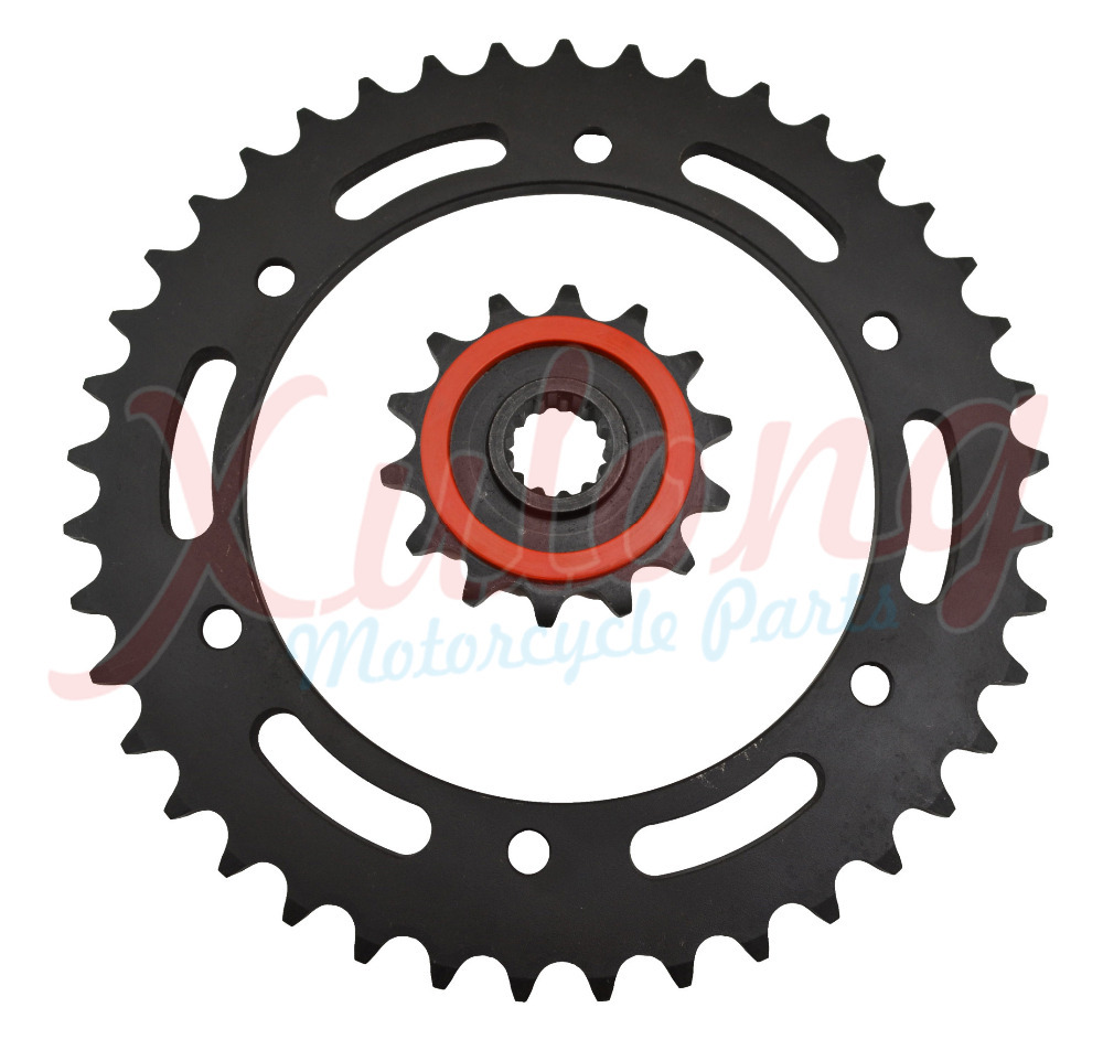 Racing Motorcycle Parts set Front & Rear Sprocket Star 43-14 Teeth Suzuki DRZ 400 DR-Z Sprockets Fit 520 Drive Chain