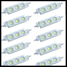 A 20pcs IP65 5050 3 LED MODULE Waterproof Warm White Pure White Injection Molding Light for DC 12V(China (Mainland))