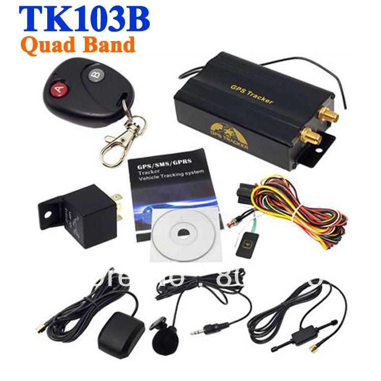 10 pcs 4 band real time gps gsm gprs car tracker tracking device auto vehicle tk103b remote. Black Bedroom Furniture Sets. Home Design Ideas