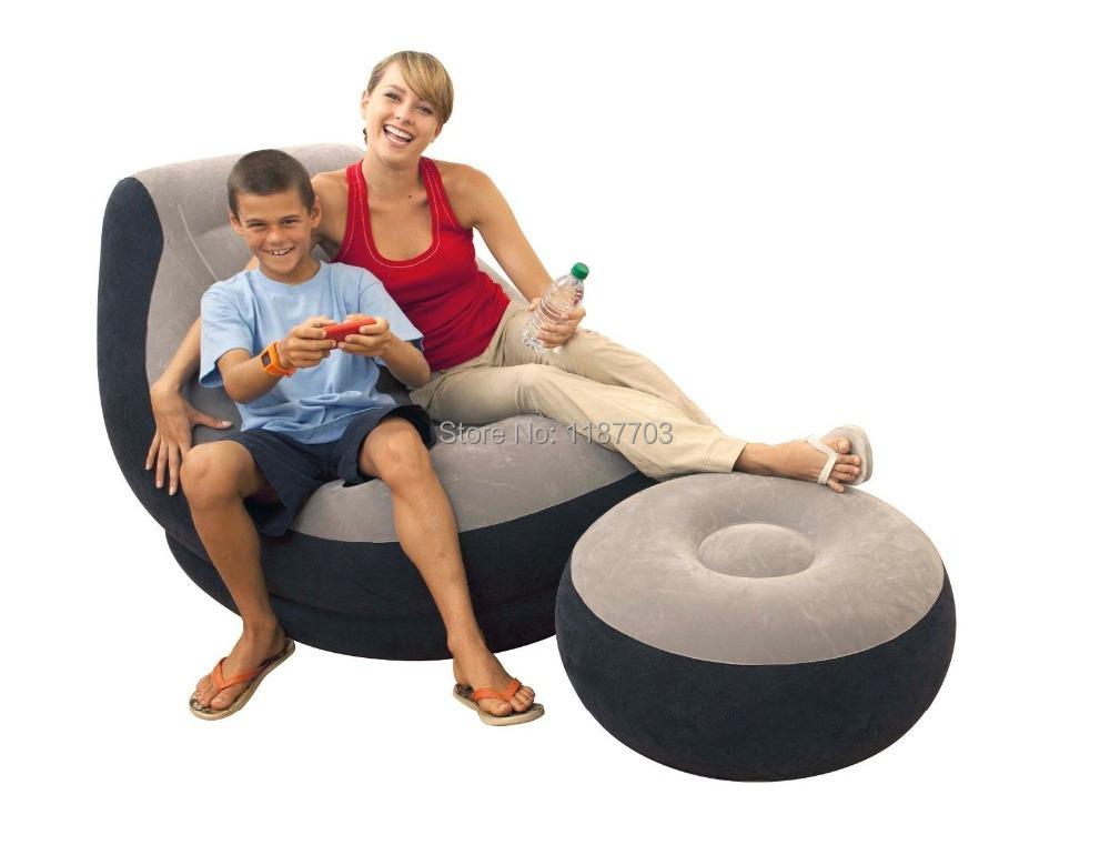 Intex inflatable couch bean bag air cube chair movies - Sofas de descanso ...