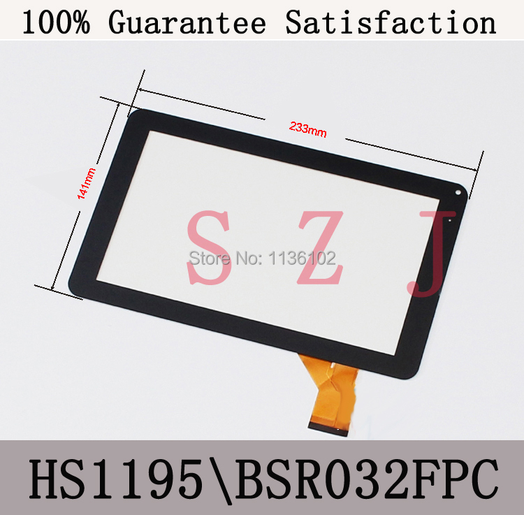 "9"" inch capacitive touch panel touch screen digitizer glass for A10 A13 MZ90S AMOI V90 Tablet PC MID TYF1055 HS1195 BSR032FPC(China (Mainland))"