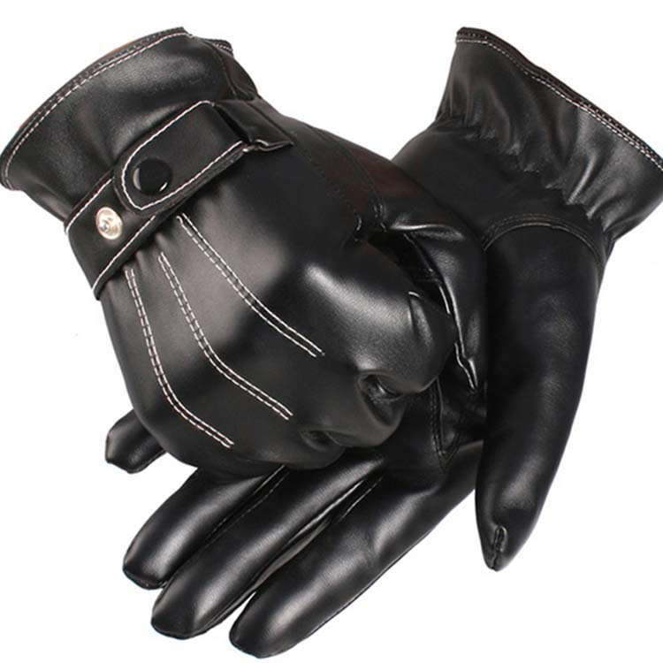 Leather Gloves For Men Winter Men's Leather Gloves Warm