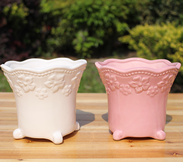 Ceramic POTS Fleshy flower pot White, Concise simple but elegant Boreal Europe style (small)(China (Mainland))