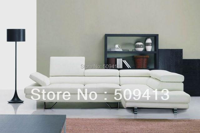 Moderne hoek lederen sofa familie sectie 2013 hotsales model gratis verzending in hoekbank met - Hoek sofa x ...