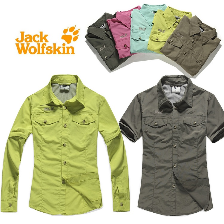 Outdoor quick-drying women's shirt anti-uv long short-sleeve quick dry sunscreen hiking clothing(H03 - Chuck Zarek store
