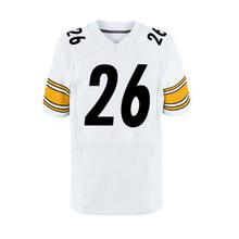 #25 Artie Burns #26 Le'Veon Bell Men's Adult 43 Troy Polamalu 7 Ben Roethlisberger White Black Elite Stitched(China (Mainland))