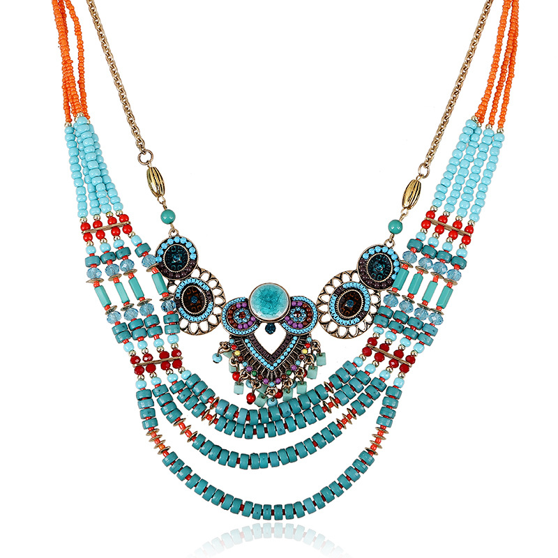 2015 collier femme statement bohemian resin collar