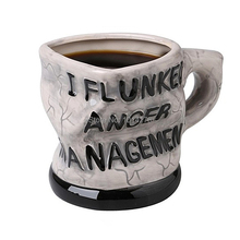 2015 Funny 12oz I Flunked Anger Management Mug Distorted Ceramic Mug Coffee Cup Novelty Gift