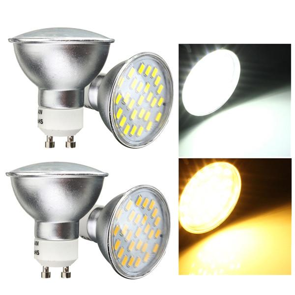 Hot Sale GU10 MR16 4W 27 LED 5050 SMD Energy Saving Warm Pure White Down Spot Light Lamp Bulb AC220V<br><br>Aliexpress