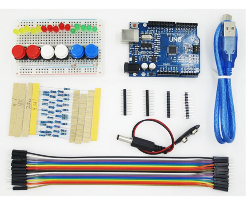 Гаджет  Starter Kit UNO R3 MINI Breadboard LED Jumper Wire button for Arduino Free Shipping  None Электронные компоненты и материалы