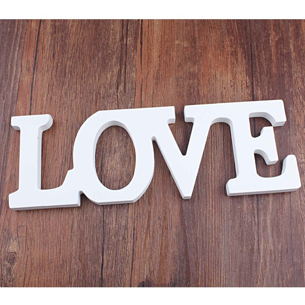 Wooden standing love letters sign plaque decoration gift for Letter plaques