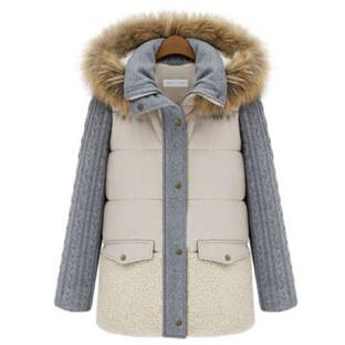 2014 New Winter Women Clothing Winter Jackets Long Thick Jacket Raccoon Collar Fur Coat  Down & Parkas Female Casual Coat JX166