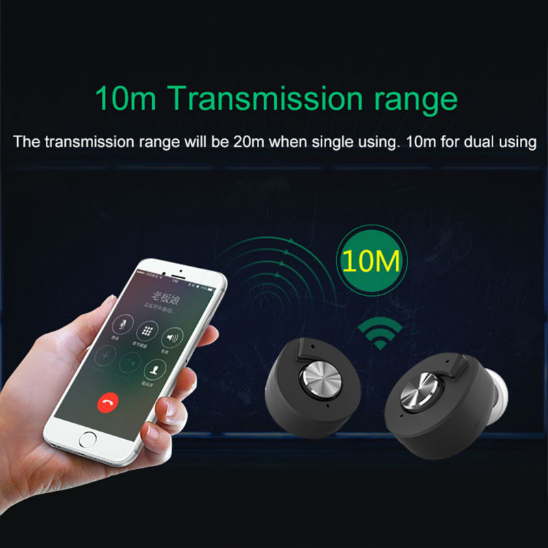 Newest TWS T8 true Wireless Bluetooth Headset Bluetooth 4.1 Earbuds with Charging Socket for iphone 6 7 plus xiaomi