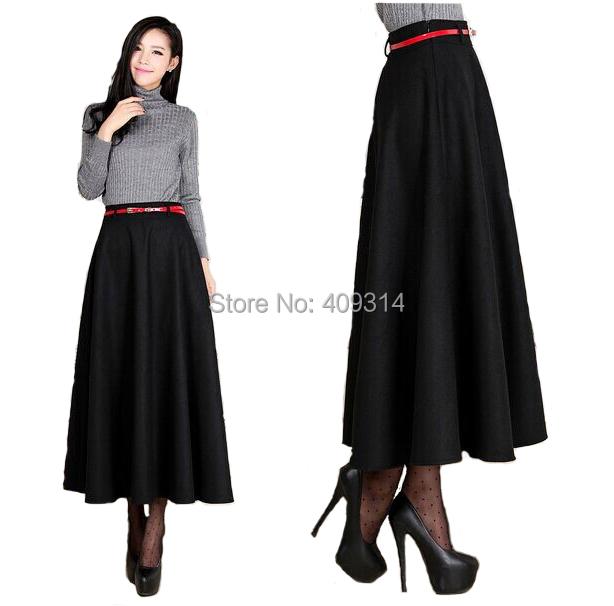 6xl plus size skirt 2016 winter saia longa faldas