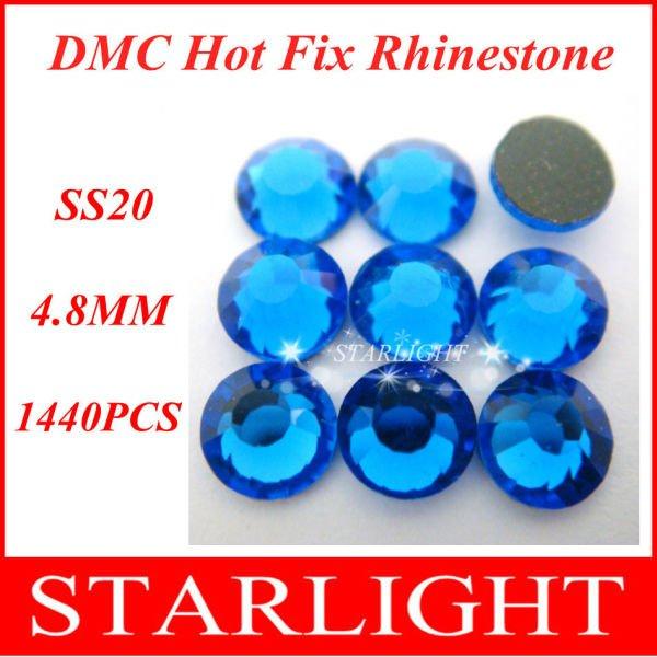 Wholesale,FREE SHIPPING,DMC hot fix rhinestone,Sapphire Color SS20,China post air mail free,1440pcs/lot(China (Mainland))