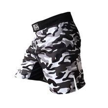 Mma shorts muay thai boxe calças boxeo sanda esporte camo kickboxing luta masculino(China)