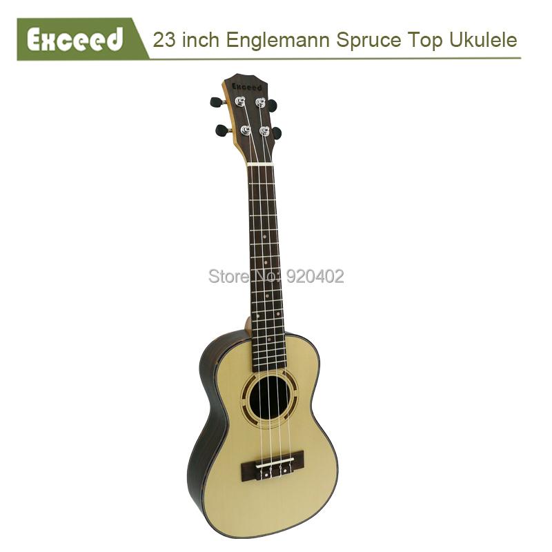 23 inch Concert ukelele Hawaii Acoustic Guitar Handcraft Amazing Sound quality Spruce China Guitarra Ukulele musical instrument(China (Mainland))