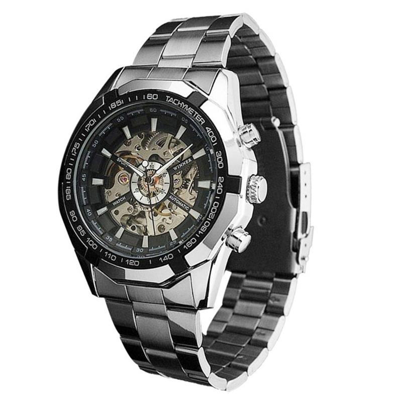 cheap wrist watch men Steampunk Clock Mens Automatic Mechanical Men Wrist Watch Military Style Men Wristwatches Ap8(China (Mainland))