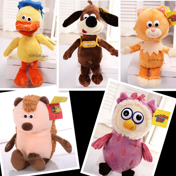 free shipping 1lot=5PCS Timmy Time cute timmy time plush toys doll for children gifts/duck dog cat hedgehog owl<br><br>Aliexpress