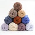 wholesale 5balls lot 100g ball natural soft silk milk cotton yarn thick yarn for knitting baby