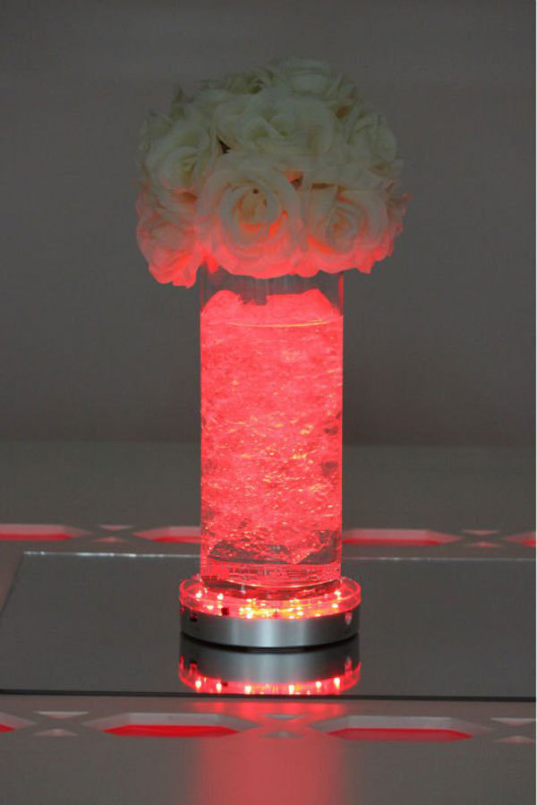 Hot units inch led wedding centerpieces aa battery