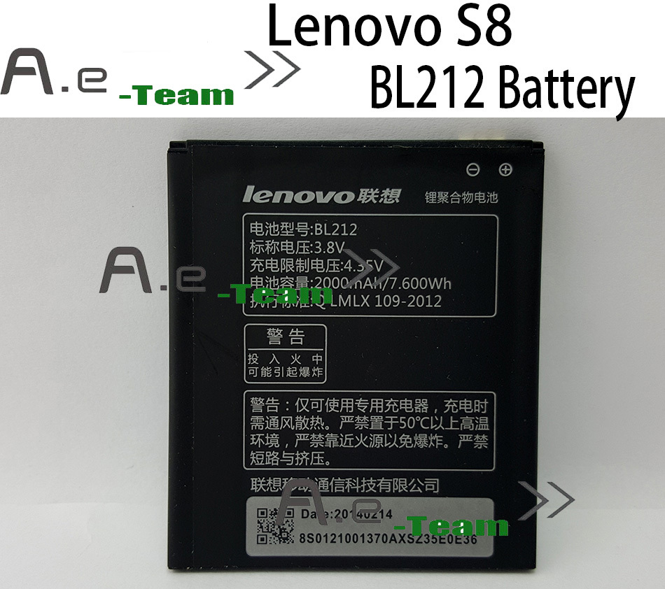 Lenovo S8 battery Original BL212 2000mAh Battery for Lenovo a708t A628T A620T S898T A780E Smartphone Free