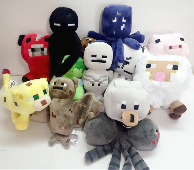 14 Styles Minecraft Stuffed Plush Toy Game Roles Model Cartoon Toys Doll Kids Children Festival Gift High Quality