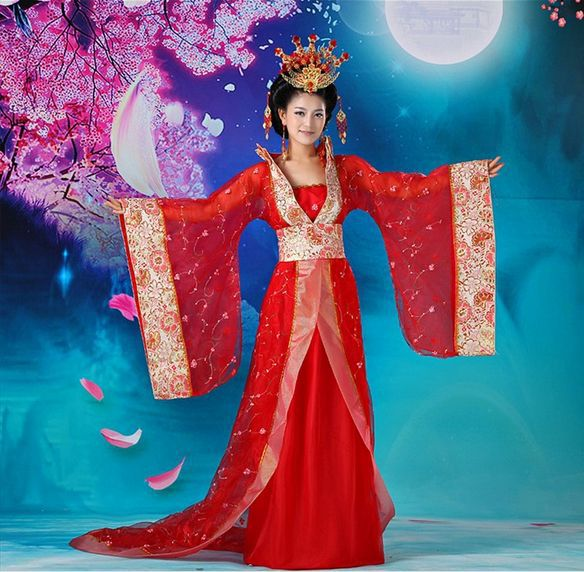Chinese ancient clothes costume hanfu dance costume skirt ...