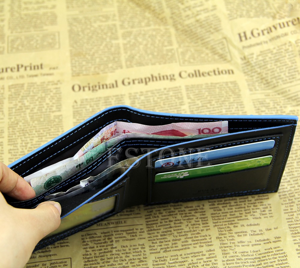 1PC Classic Leather Coin Bag Card Holder Money Mens Wallet Bifold Pocket Purse NEW