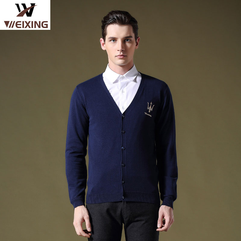 England Autumn And Winter 2016 Slim Casual Brand Men Cardigan Sweater Men Sweater Tide Striped V-neck Sweater Men's Double 702(China (Mainland))