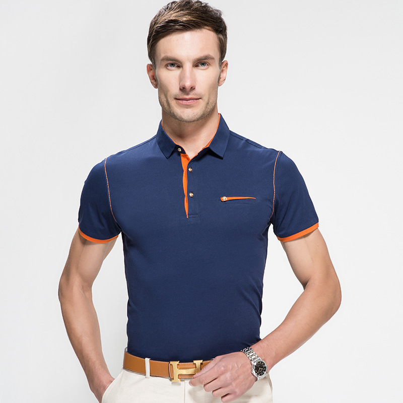 2015 new summer men collar polo shirt men clothing solid Man in polo shirt