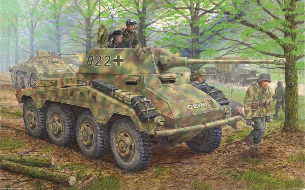 Art Sd.Kfz 234 2 Puma German heavy armored car with full closed tower developed 4 Sizes Home Decoration Canvas Poster Print(China (Mainland))